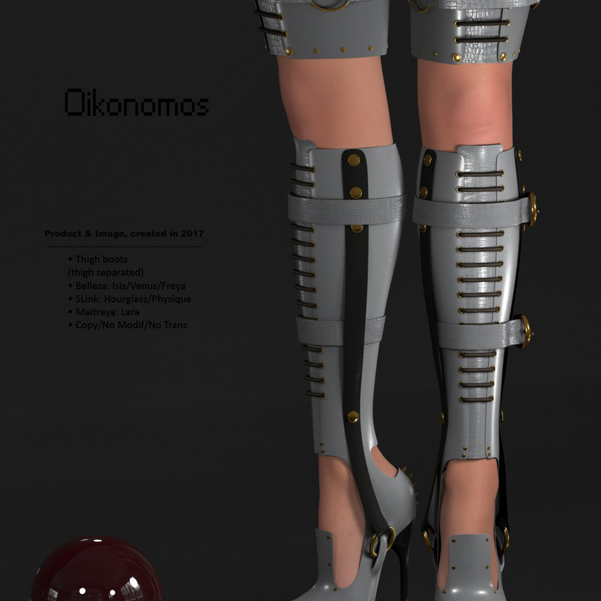 AZOURY - Oikonomos Thigh Boots [Grey]
