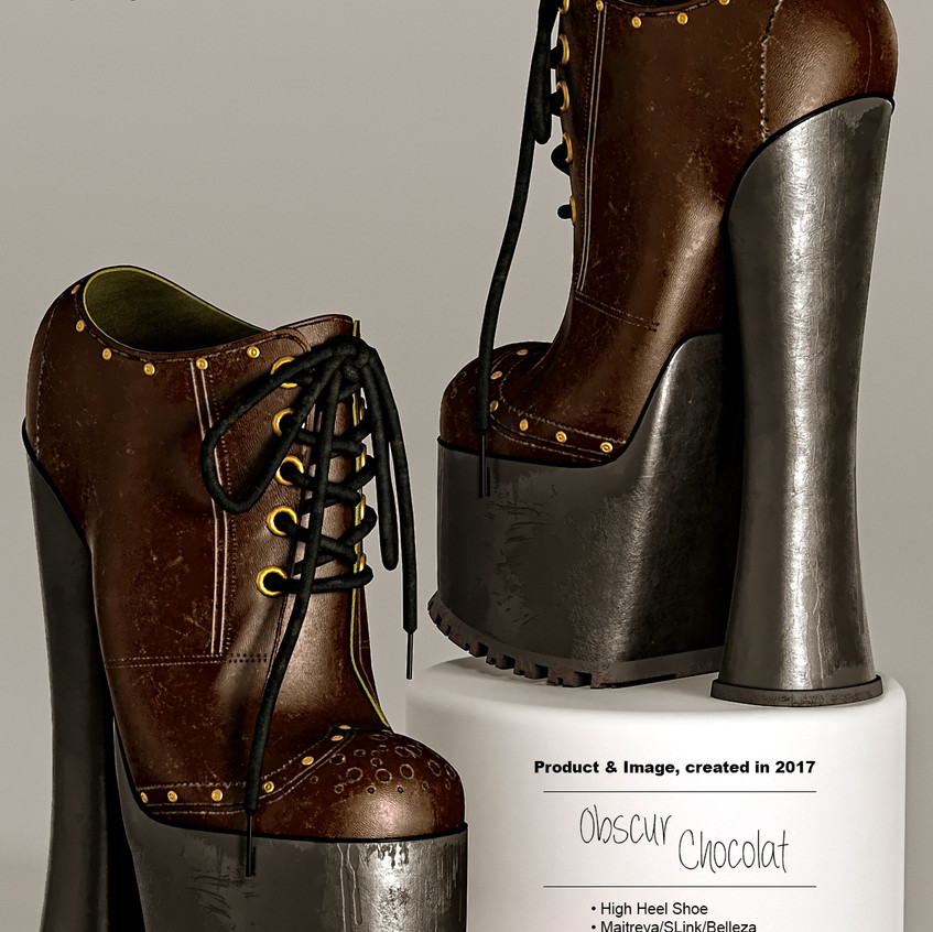 AZOURY - Obscur High Heel Shoe [Chocolat]