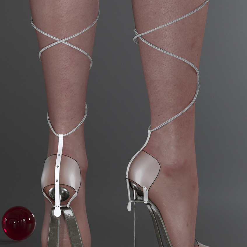 AZOURY - Obsession High Heel Shoe [White]