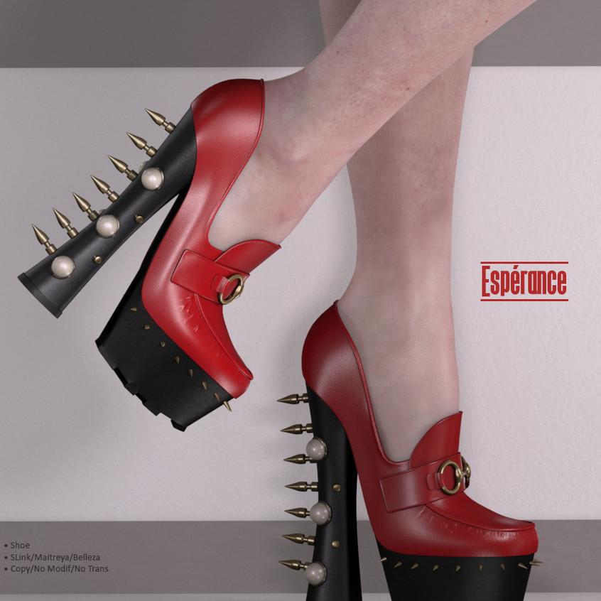 AZOURY - Esperance Shoe {Red}