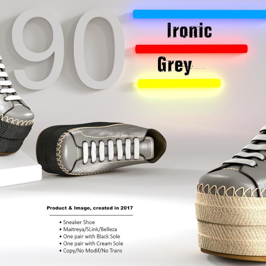 AZOURY - Ironic Sneaker Shoe [Grey]