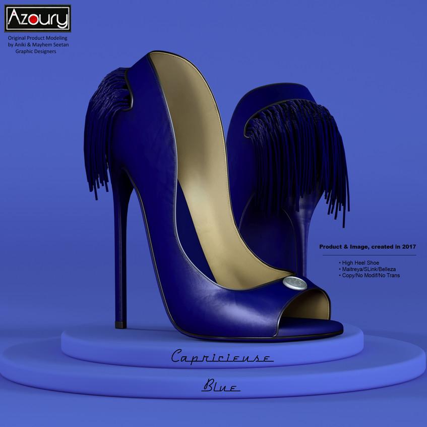 AZOURY - Capricieuse High Heel Shoe [Blue]