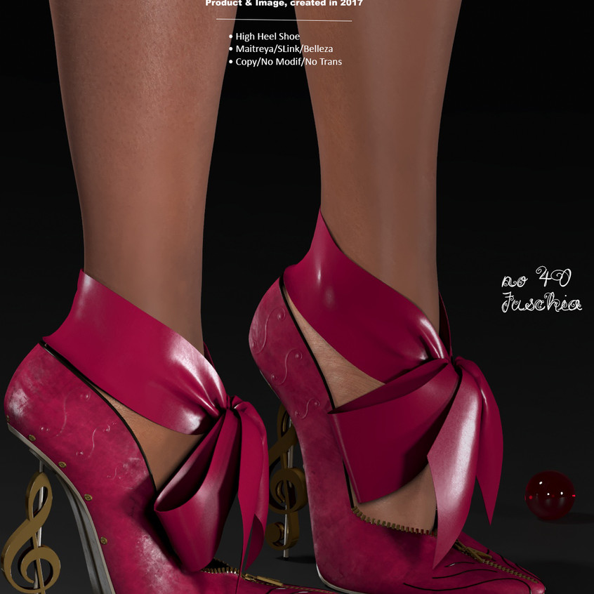 AZOURY - no 40 High Heel Shoe [Fuschia]
