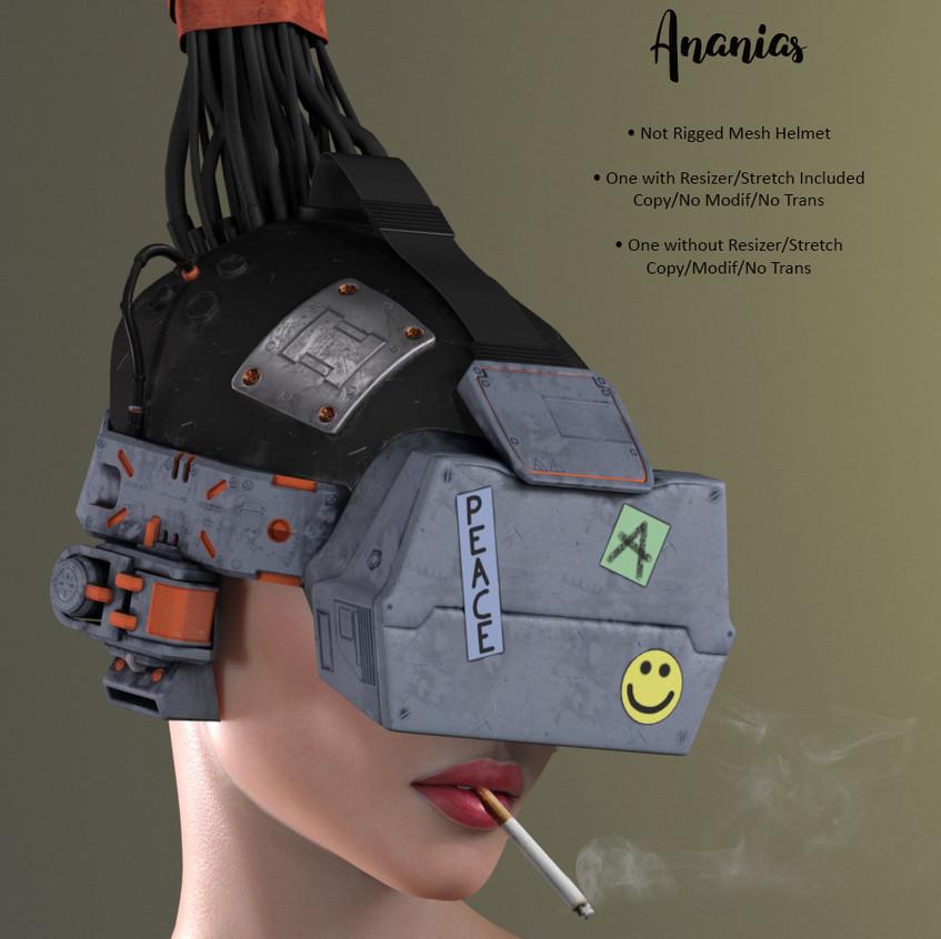 AZOURY - Ananias Helmet [Grey and Orange]