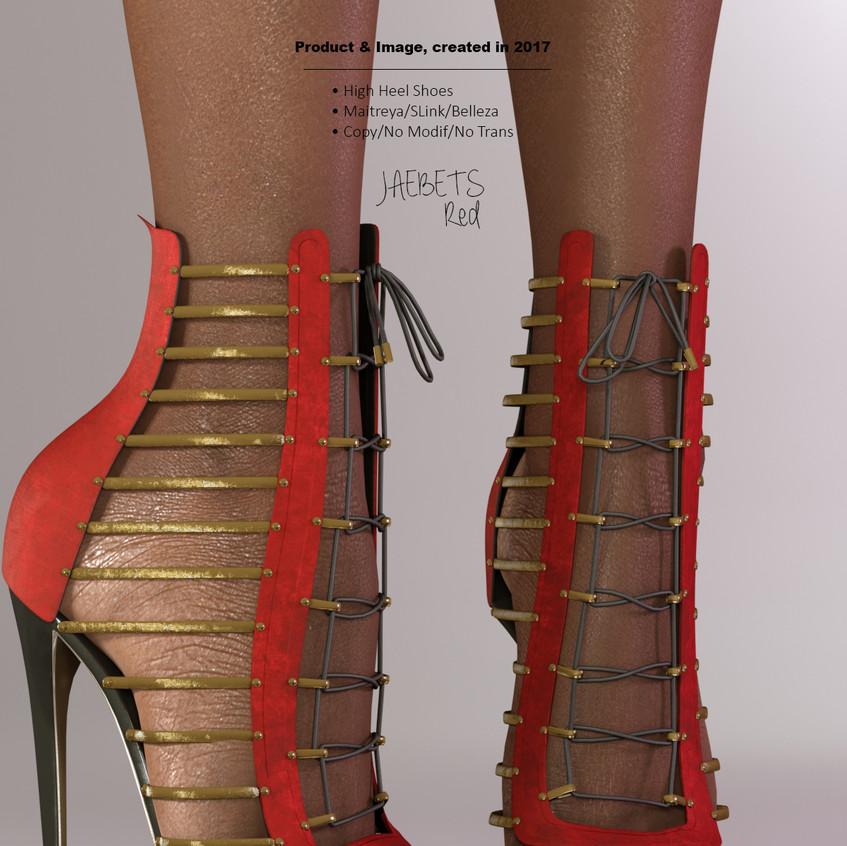 AZOURY - Jaebets high heel shoe [Red]