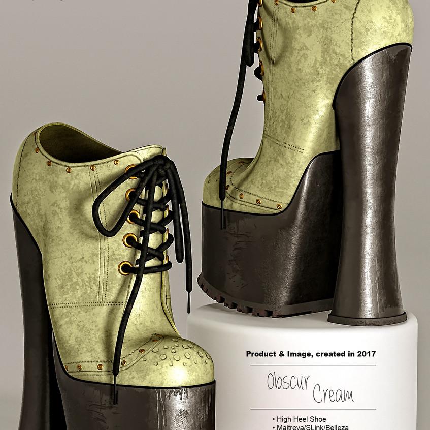 AZOURY - Obscur High Heel Shoe [Cream]