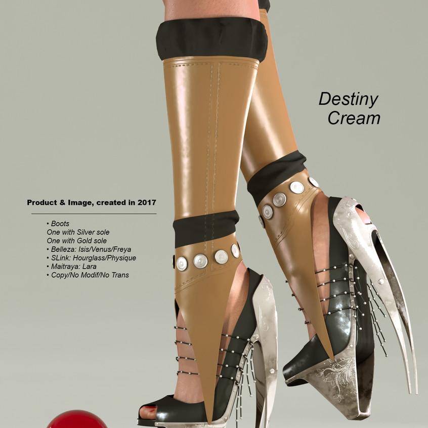 AZOURY - Destiny Boots [Cream]