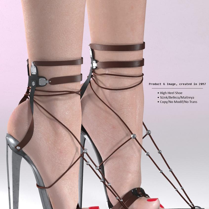 AZOURY - BARUCH High Heel Shoe [Brown]