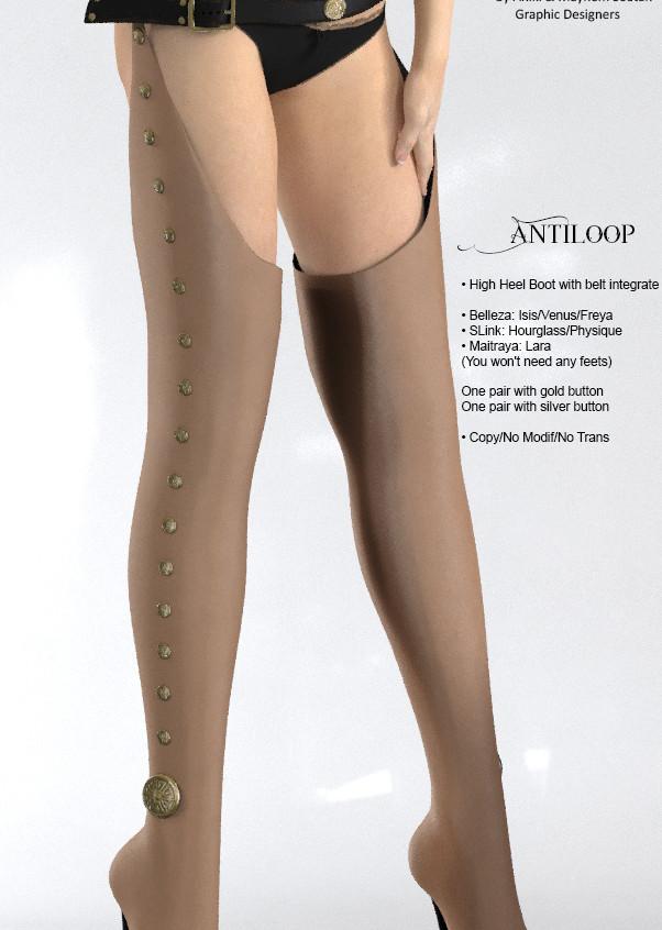 AZOURY - Antiloop leather [Cream]