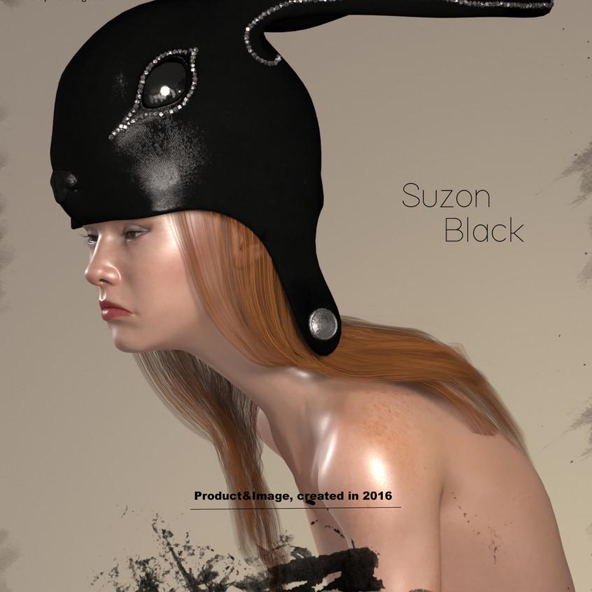 AZOURY - Suzon Leather Headwear [Black]