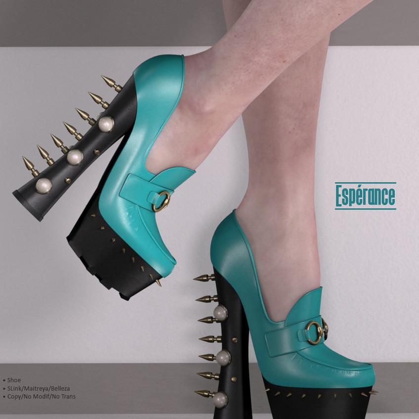 AZOURY - Esperance Shoe {Turquoise}