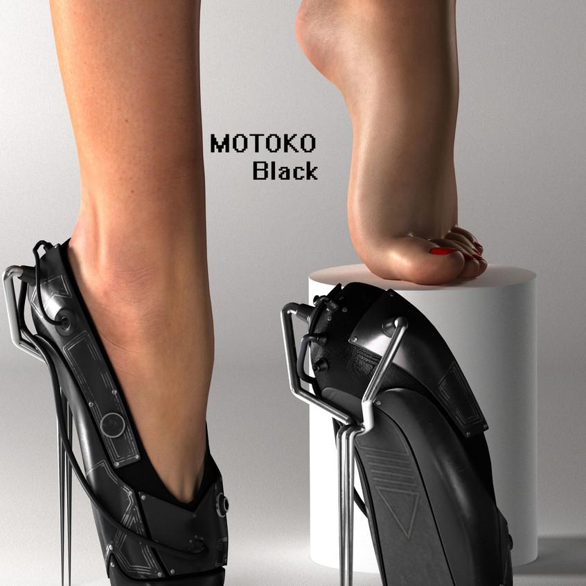 AZOURY - MOTOKO Ballet Shoes [Black]