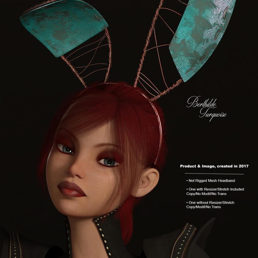 AZOURY - Berthilde Headband [Turquoise]