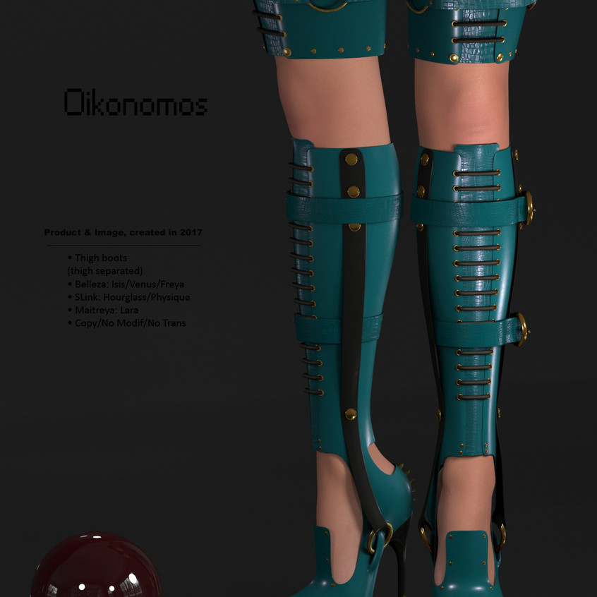 AZOURY - Oikonomos Thigh Boots [Turquoise]