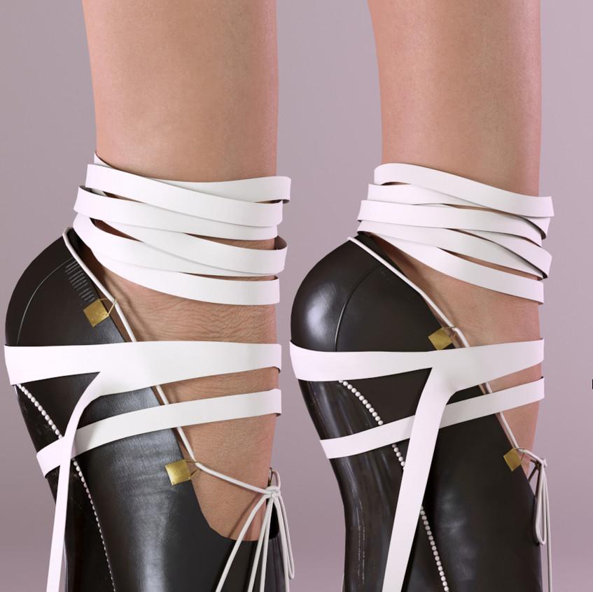 AZOURY - Josette Ballet Shoes SLink Pointe [White]