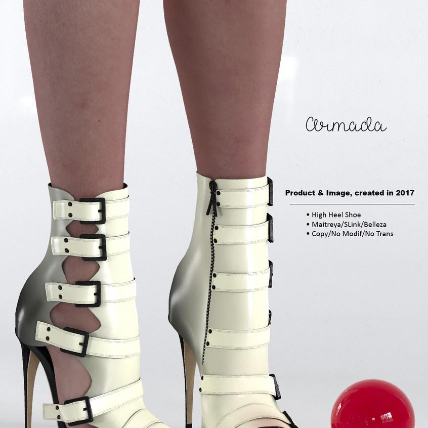 AZOURY - Armada High Heel Shoe [White]