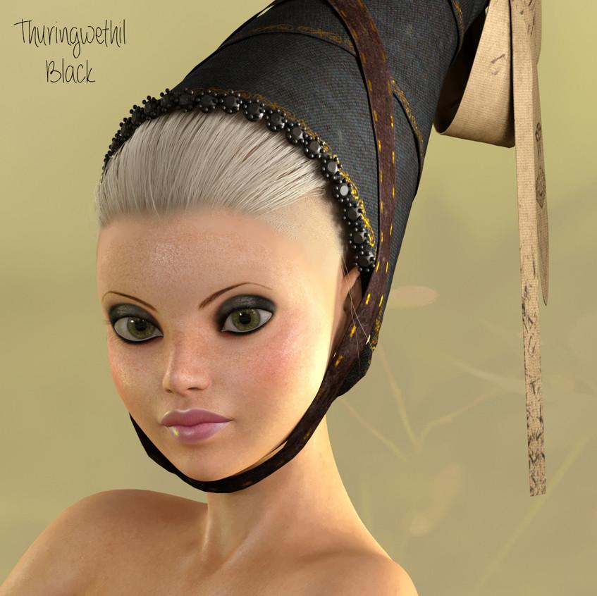 AZOURY - Thuringwethil Headwear [Black]
