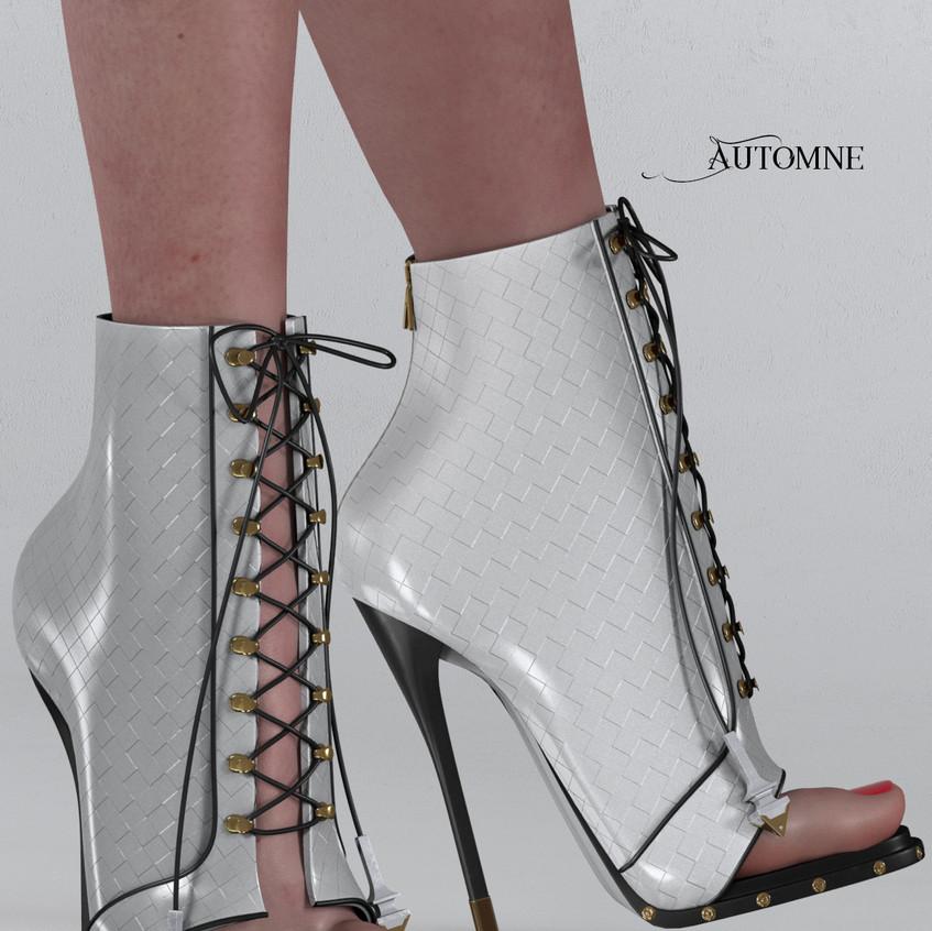AZOURY - Automne Boot [White]
