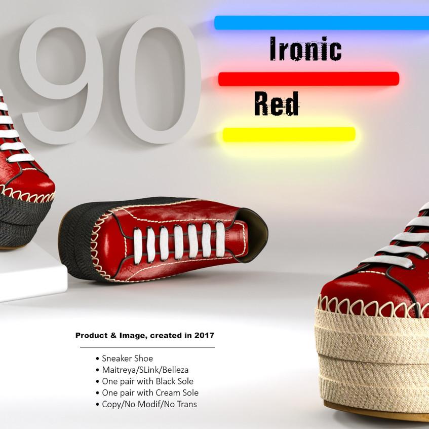 AZOURY - Ironic Sneaker Shoe [Red]