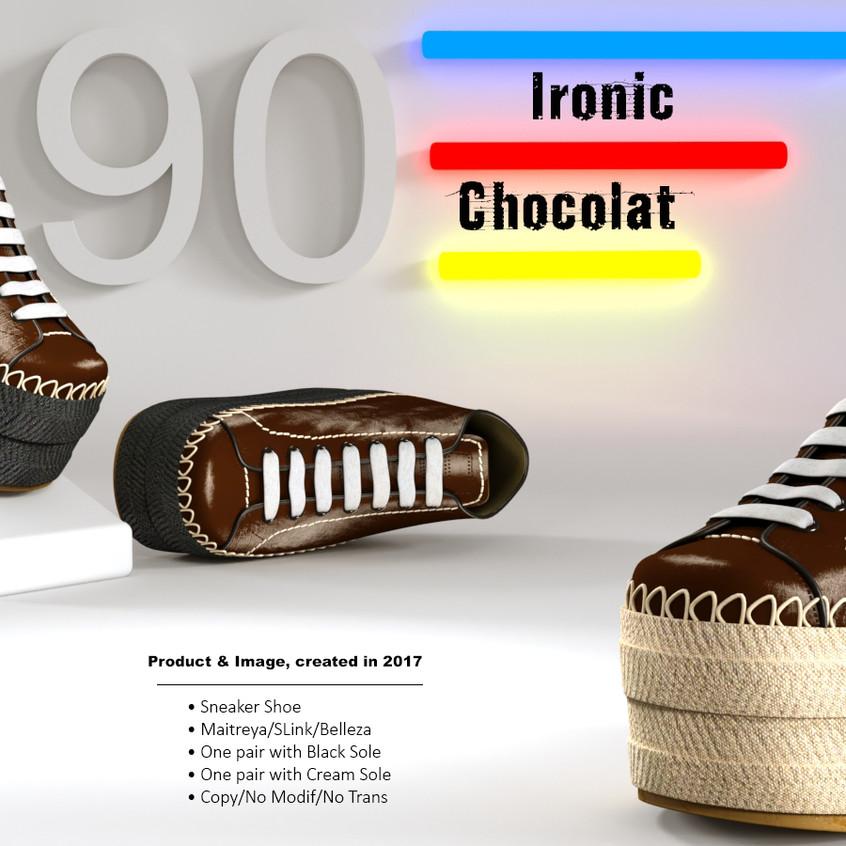 AZOURY - Ironic Sneaker Shoe [Chocolat]