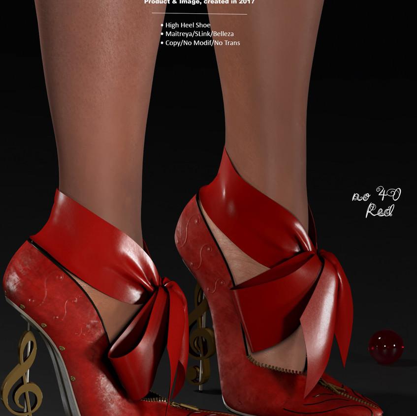 AZOURY - no 40 High Heel Shoe [Red]