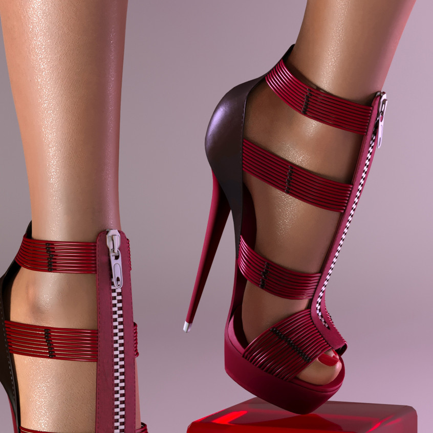 AZOURY - Ezekiel High Heel Shoe [Fuschia]