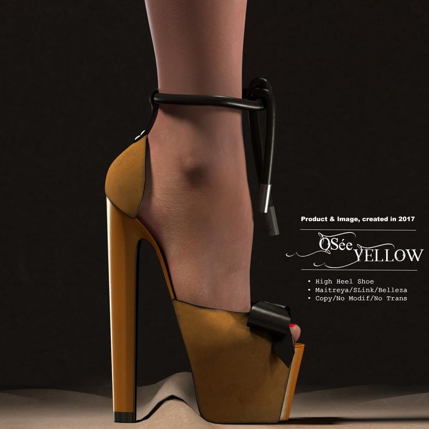 AZOURY_-_Osée_High_Heel_Shoe_[Yellow]