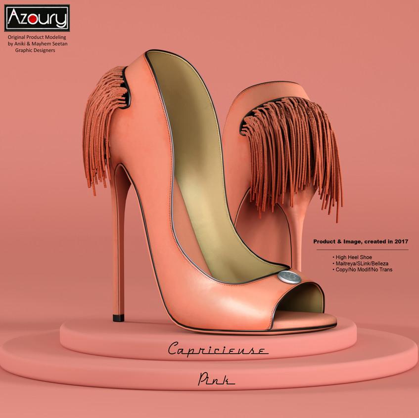 AZOURY - Capricieuse High Heel Shoe [Pink]
