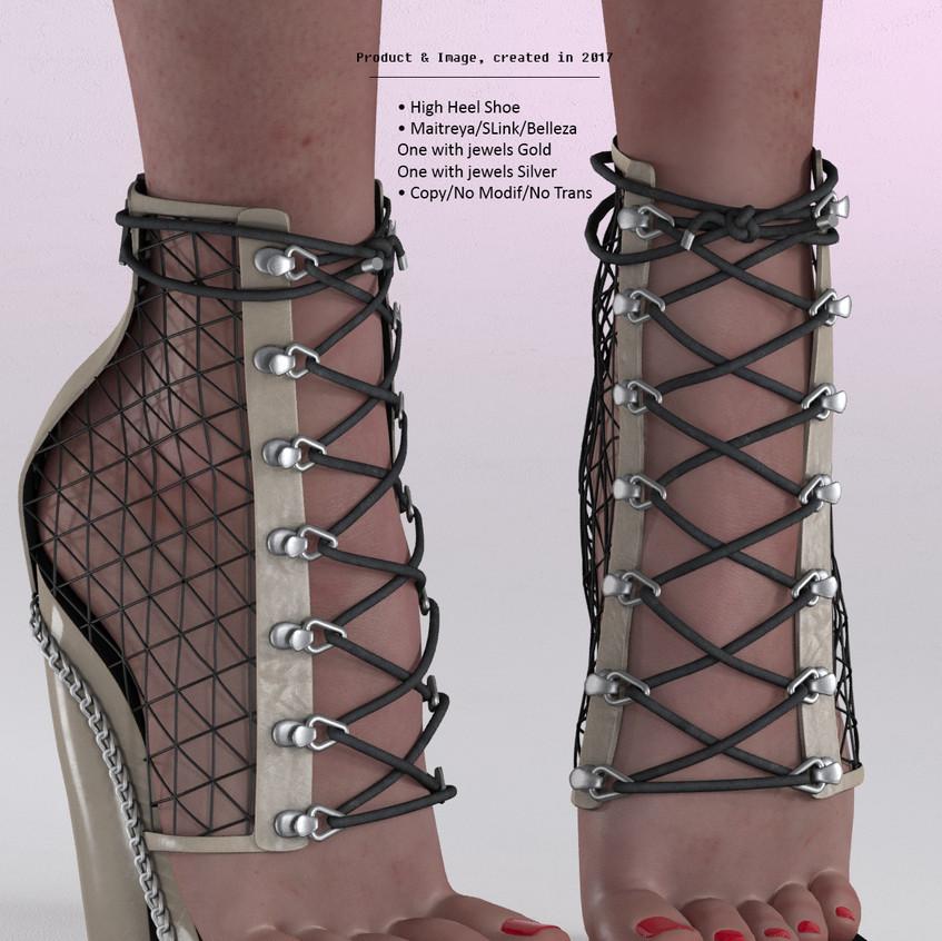 AZOURY - Tsaphkiel High Heel Shoe [Cream]