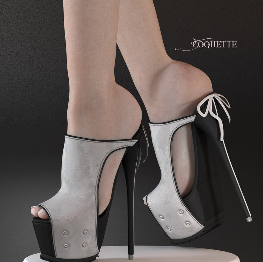 AZOURY - Coquette High Heel Shoe [White]