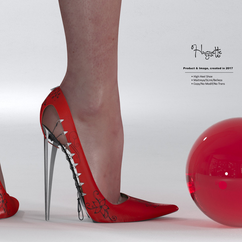 AZOURY - Huguette High Heel Shoe [Red]