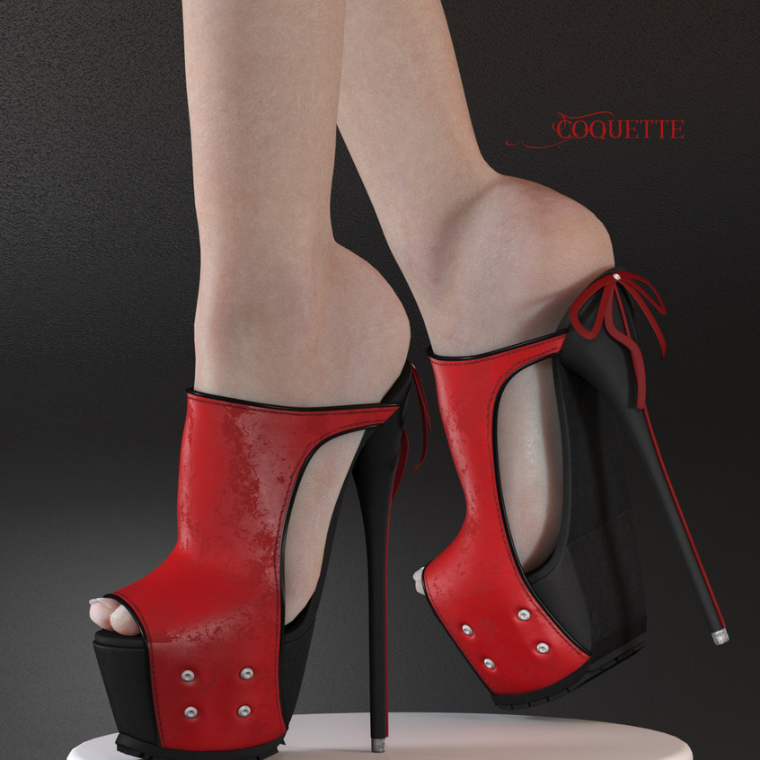 AZOURY - Coquette High Heel Shoe [Red]