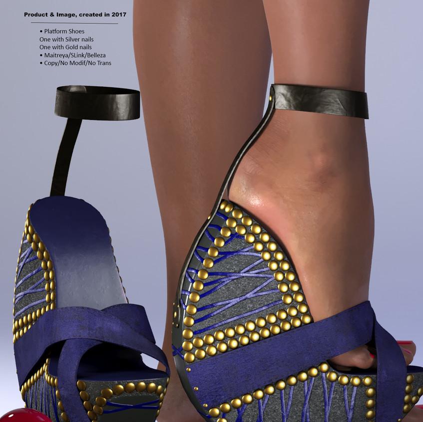AZOURY - Ouroboros Platform Shoes [Blue]