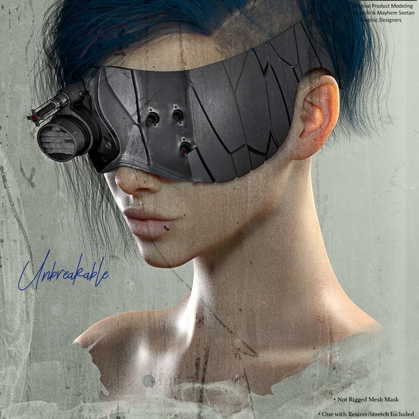 AZOURY - Unbreakable Mask Black&Silver