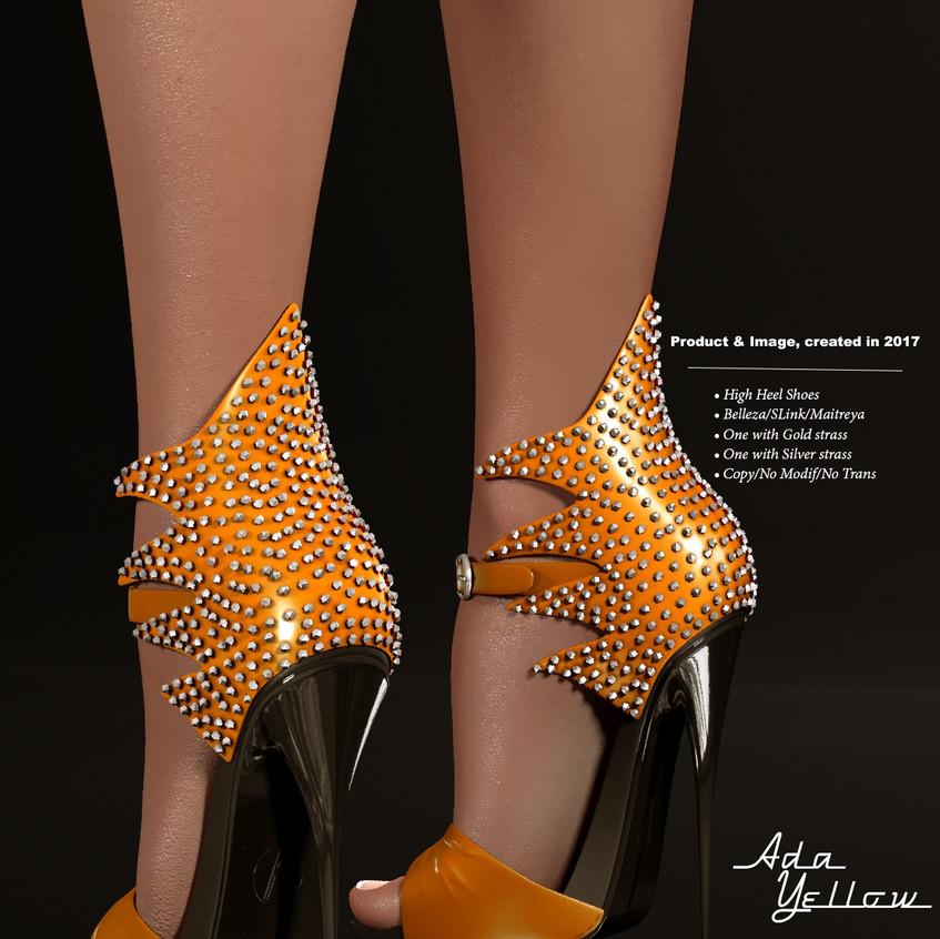 AZOURY - Ada High Heel Shoe [Yellow]