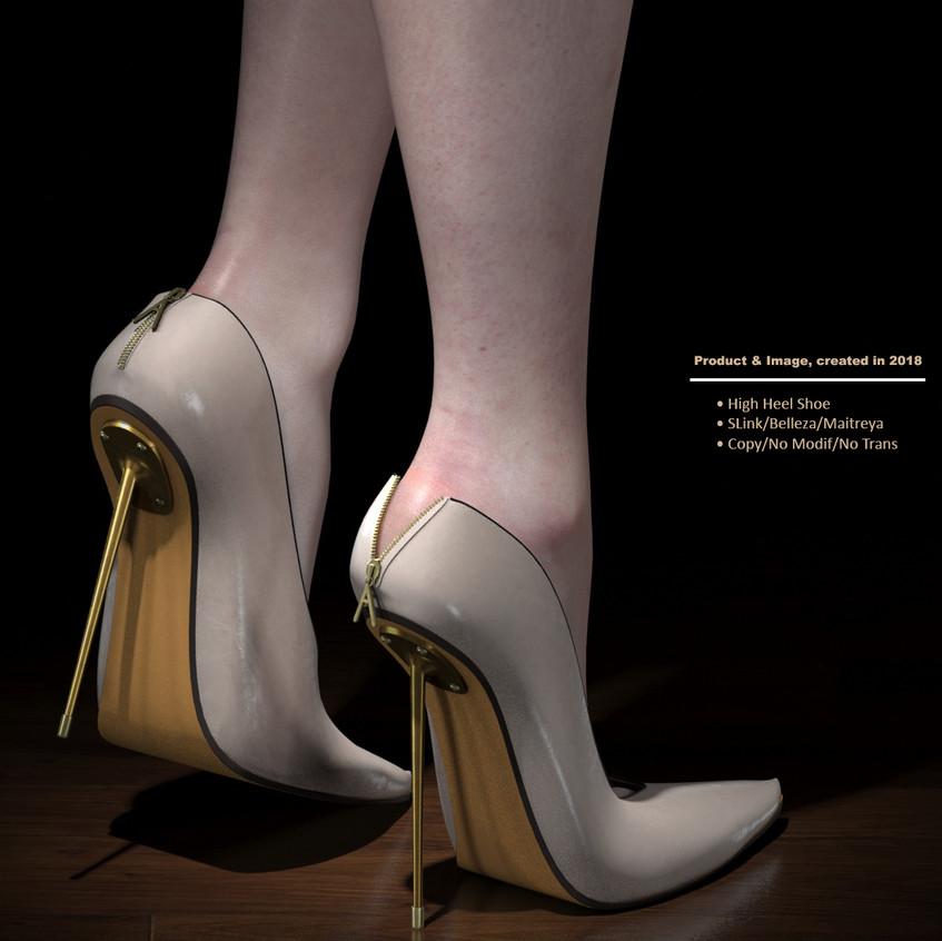 AZOURY - Kardia High Heel Shoe [White]