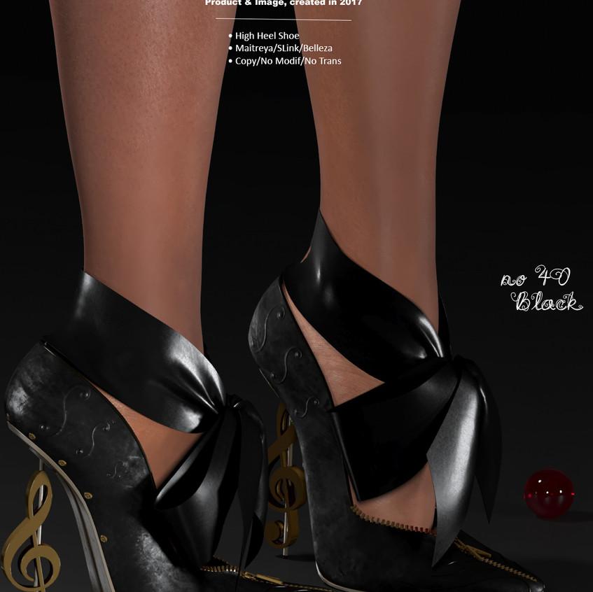 AZOURY - no 40 High Heel Shoe [Black]