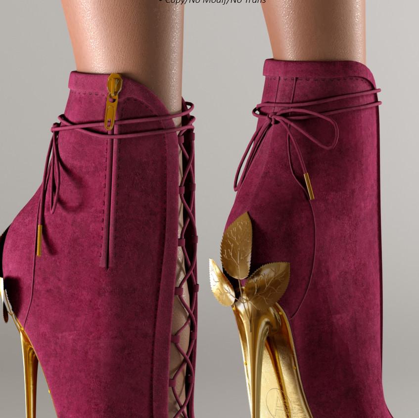 AZOURY - Ahira High Heel Shoe [Fuschia]