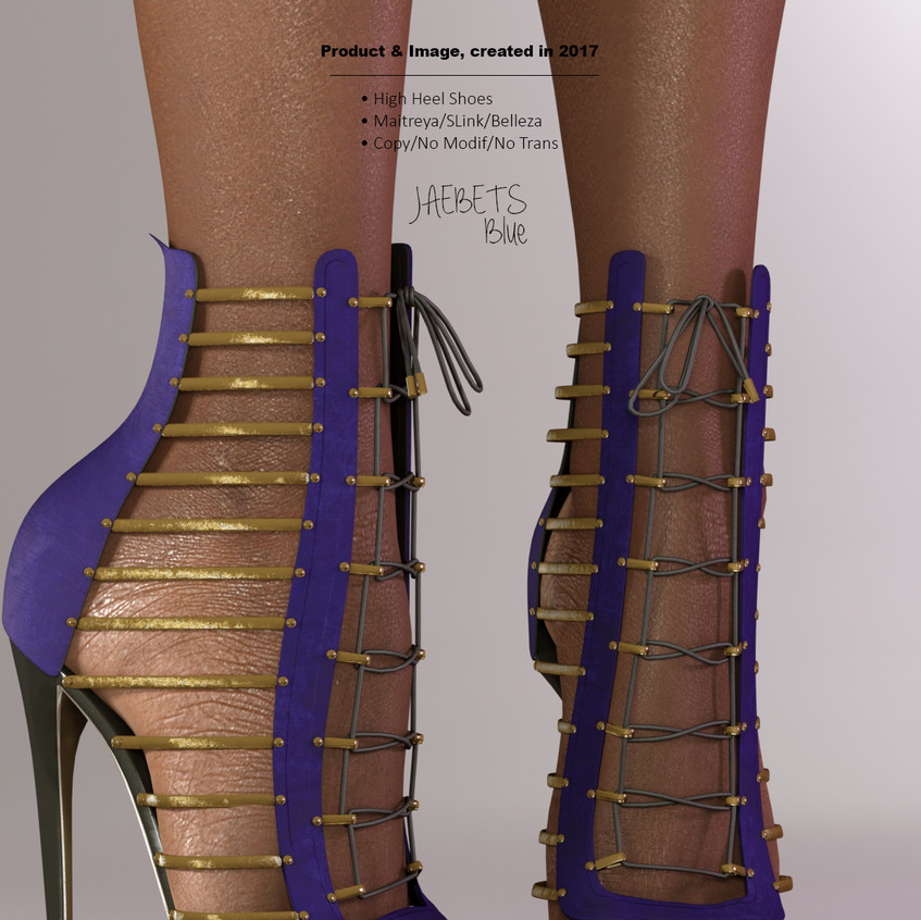 AZOURY - Jaebets high heel shoe [Blue]