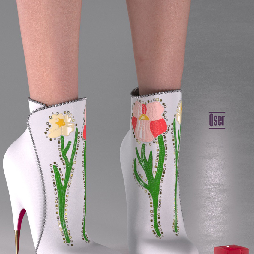 AZOURY - Oser Boots [White]