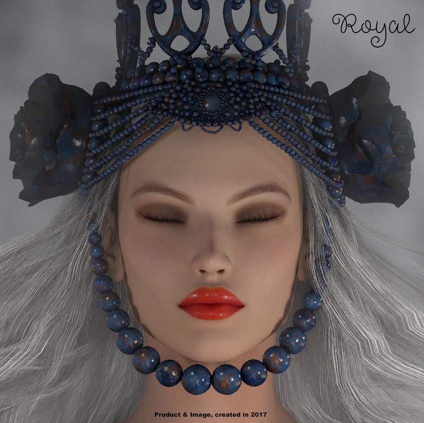 AZOURY - Royal Crown [Metallic Blue]