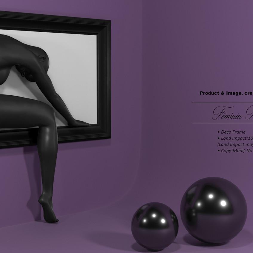 AZOURY - Feminin Frame [Black]
