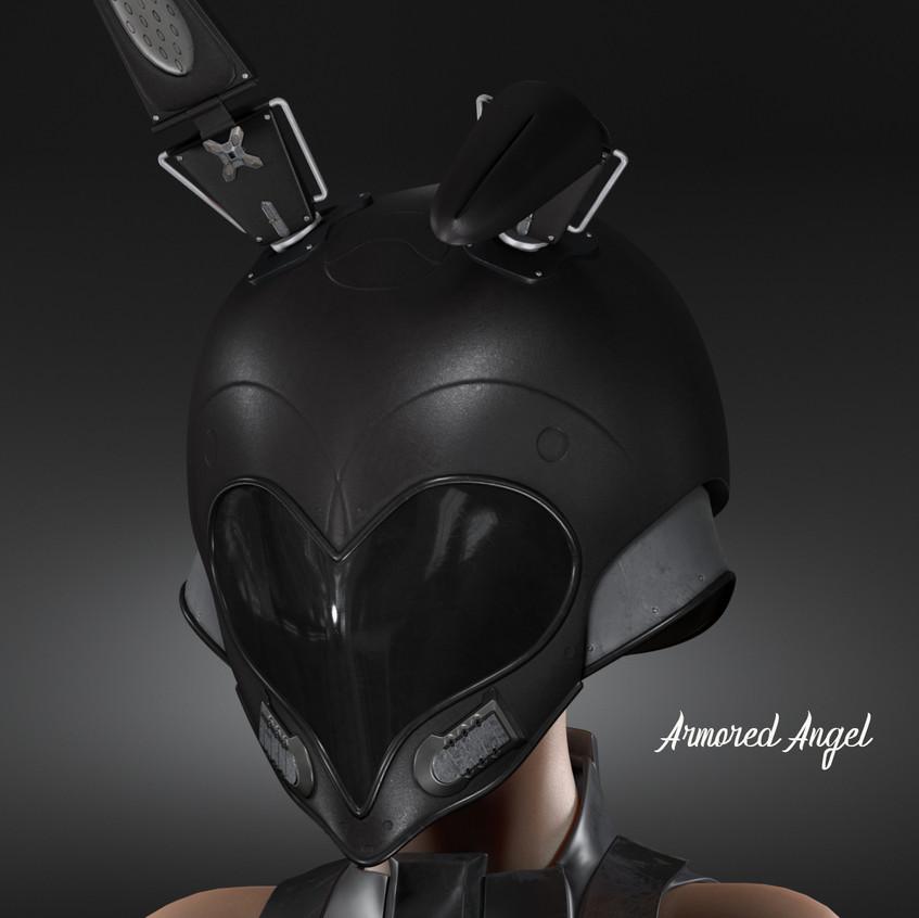AZOURY - Amored Angel Helmet Onyx