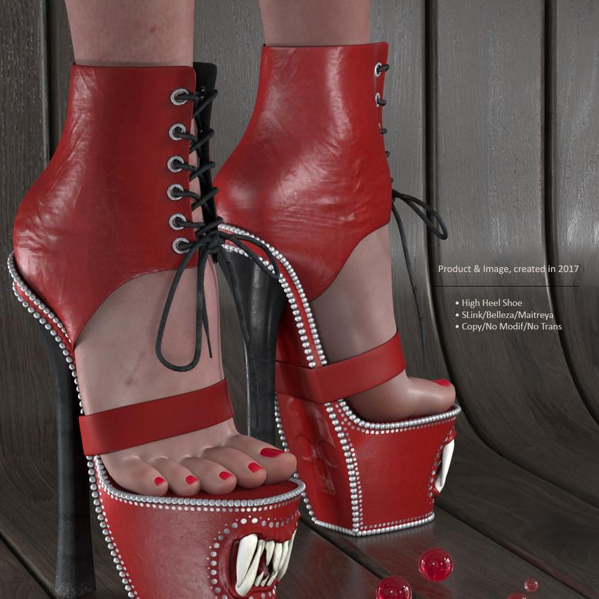 AZOURY - Baba Yaga Shoe [Red]