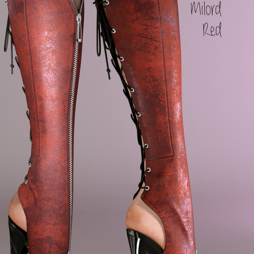 AZOURY - Milord Boots [Red]