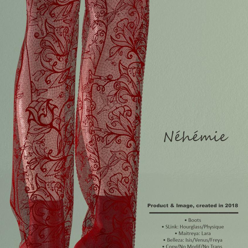 AZOURY - Nehemie Boots Red