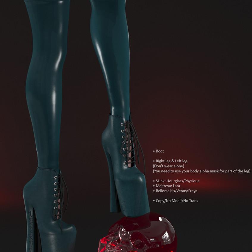 AZOURY - Salem Boot [Turquoise]