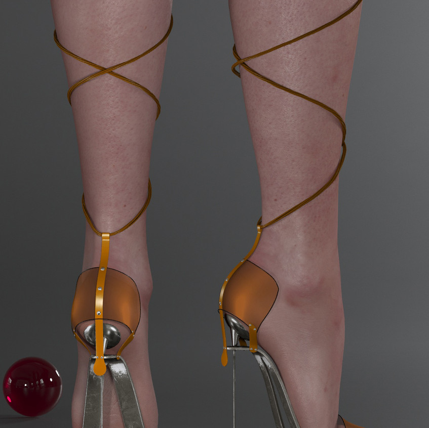 AZOURY - Obsession High Heel Shoe [Yellow]