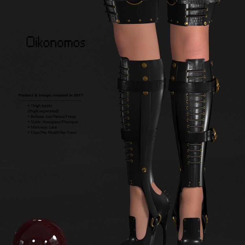AZOURY - Oikonomos Thigh Boots [Black]