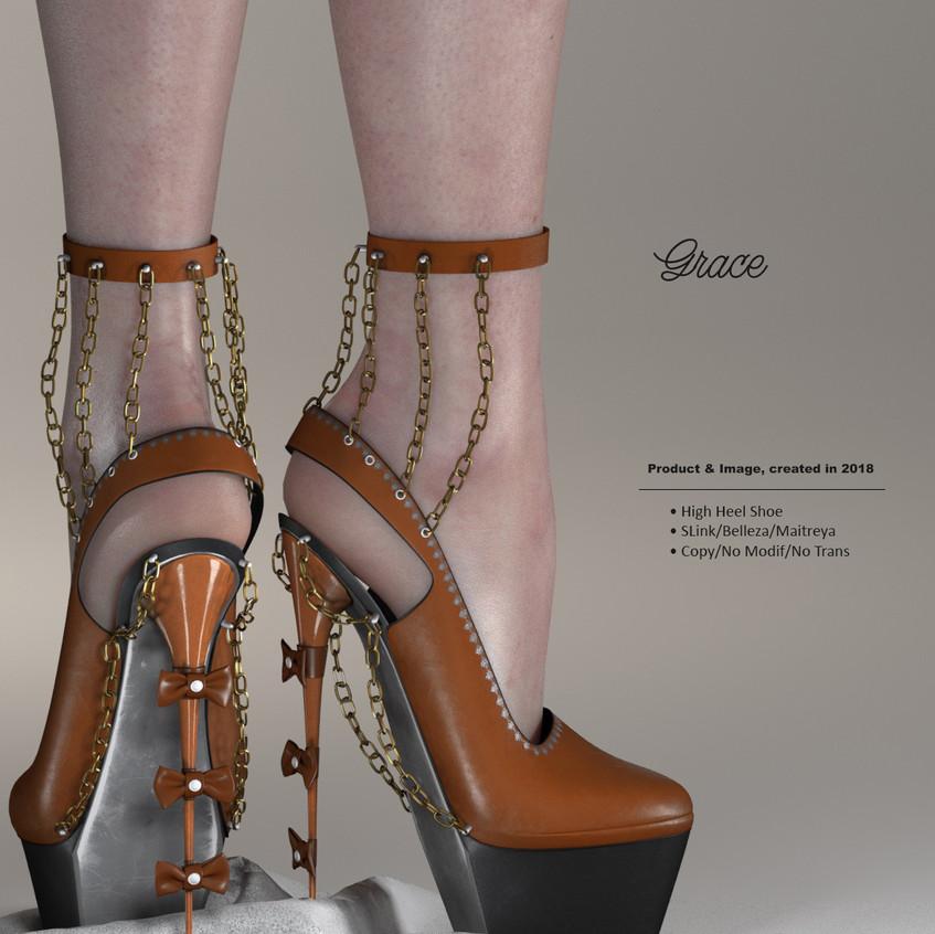 AZOURY - Grace High Heel Shoe {Caramel}.